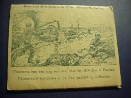 Panorama De La Bataille De L'Yser 1914 Par A Bastien, Omslag Met 14 Kaarten - Ieper