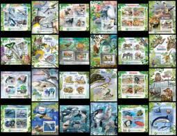 BURUNDI 2012 - Protection Of Nature II, 12 M/S + 12 S/S. Official Issue - Burundi