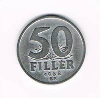 HONGARIJE  50  FILLER  1968  BP - Hongrie