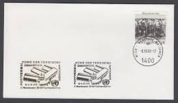 UNO Wien-UN Vienna - Beleg 1992 - MiNr. 96 - Gold-Sonderstempel - 2. Nordwest Briefmarkenbörse, Osnabrück - UNO