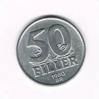 HONGARIJE  50  FILLER  1980  BP - Hungary