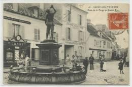 SAINT LEU TAVERNY (VAL D' OISE - 95) - CPA - PLACE DE LA FORGE ET GRANDE RUE - Saint Leu La Foret