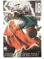 Cartel Poster Guerra Civil Española 42x32 Cm. Aprox. REPRODUCTION - Patrióticos
