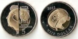 Saint Eustatius 5 Dollars( Bimetal)  2012-JELLYFISH - Antilles Neérlandaises