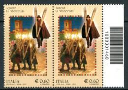 """ITALIA / ITALY 2012** - Agnone La """"Ndocciata"""" - Coppia Con Codice A Barre Come Da Scansione - Códigos De Barras"""