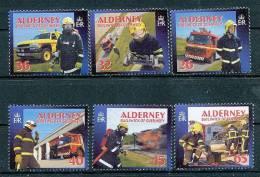 ALDERNEY Mi.Nr. 242-247 Feuerwehr - MNH - Alderney