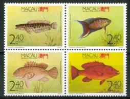 1990 Macao Pesci Fishes Fische Pissons Set MNH** Spa211 - 1999-... Regione Amministrativa Speciale Della Cina