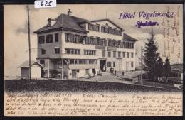 Speicher (AR) Hôtel Vögelinsegg Um. 1903 (-625) - AR Appenzell Rhodes-Extérieures