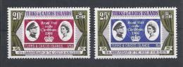 Turks & Caicos Islands  1976 - 10th Anniv. Of Royal Visit, Complete Set  Y&T 355-56  Mi. 357-58  MNH - Turks & Caicos