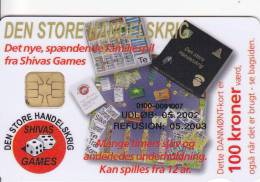 Denmark, DD 219, Shivas Games, Only 10492  Issued, 2 Scans. - Danemark