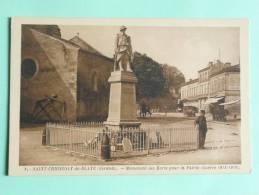 Saint Christoly De Blaye - Monument Des Morts Pour La Patrie - Other Municipalities