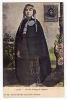 AMERICA CHILE CHILEAN MAPUCHE PEOPLE COSTUME OLD POSTCARD 1912. - Chile