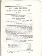 PAQUEBOTS DE LA MEDITERRANEE  - Loi De La RF N°265 Art  N°2169 - 1850 - 4 Pages - Sin Clasificación