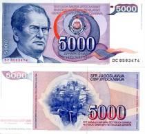 Yugoslavia 5000 Dinars.  UNC Banknote. Crisp New - Yougoslavie