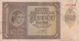 CROATIA  -  NDH  --  NEZAVISNA DRZAVA HRVATSKA  ---  1000 KUNA - Kroatien
