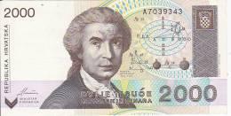 CROATIA  -  2000 HRVATSKIH DINARA   -  1992 - Kroatien