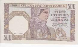SERBIA  -  500 DINARA --  1941  -  UNC - Serbien