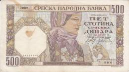 SERBIA  -  500 DINARA   --  1941 - Serbia