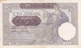 SERBIA  -  100 DINARA   --  1941 - Serbien