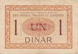 KINGDOM SHS  --  1 DINAR - Jugoslawien
