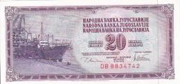 JUGOSLAVIJA  -  20 DINARA  -  1978  --  UNC - Yugoslavia