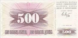 REPUBLIKA BOSNA I HERCEGOVINA  -  500 DIN. --  1992 - Bosnia Y Herzegovina