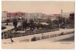 AMERICA CHILE ANTOFAGASTA COLON SQUARE OLD POSTCARD 1918. - Chile