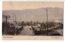 AMERICA CHILE ANTOFAGASTA SOTOMAYOR SQUARE OLD POSTCARD 1918. - Chile
