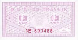 BOSNIEN  -  P. B. T. TRAVNIK   --  BON ZA TOPLI OBROK  -  0,20 DEM - Bosnien-Herzegowina