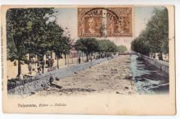 AMERICA CHILE VALPARAISO ESTERO - DELIGHTS OLD POSTCARD 1909. - Chile