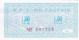 BOSNIEN  -  P. B. T. TRAVNIK   --  BON ZA TOPLI OBROK  -  1,00  DEM - Bosnien-Herzegowina