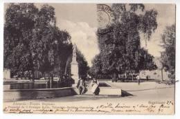 AMERICA CHILE SANTIAGO ALAMEDA NEPTUNE FOUNTAIN OLD POSTCARD 1906. - Chile