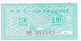 BOSNIEN  -  P. B. T. TRAVNIK   --  BON ZA TOPLI OBROK  -  2,00  DEM - Bosnien-Herzegowina