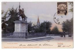 AMERICA CHILE SANTIAGO STATUE SAN MARTIN OLD POSTCARD 1906. - Chile