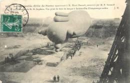 DIRIGEABLE VILLE DE PARIS AU BOUT DU HANGAR DE SARTROUVILLE - Dirigeables