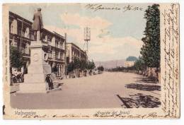 AMERICA CHILE VALPARAISO AVENUE BRASIL THE MONUMENT OLD POSTCARD 1902. - Chile