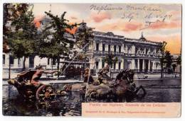 AMERICA CHILE SOURCE OF NEPTUNE, MALL OF DELIGHTS, THE TRAM OLD POSTCARD 1904. - Chile
