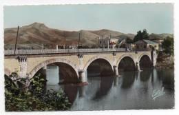 CPSM - Hendaye - Frontiére - Le Pont International Du Chemin De Fer - Les Trois Couronnes - Colorisée - Ann 50 - - Hendaye