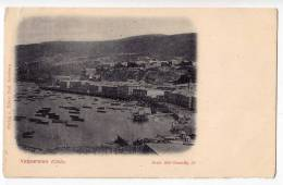 AMERICA CHILE VALPARAISO THE COAST PARTLY DAMAGED OLD POSTCARD - Chile
