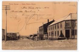 AMERICA CHILE PUNTA ARENAS PEDRO MONTT STREET OLD POSTCARD 1910. - Chile