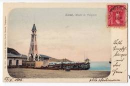 AMERICA CHILE TALTAL PASSANGERS DOCK EDIT CARLOS BRANDT OLD POSTCARD 1906. - Chile
