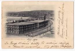AMERICA CHILE VALPARAISO BRASIL AVENUE EDIT CARLOS BRANDT OLD POSTCARD 1907. - Chile