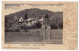AMERICA CHILE CONCEPCION AGUA LAS NINAS C. KIRSINGER & CIA. JAMMED CORNER OLD POSTCARD 1907. - Chile