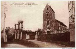 14-Saint-Laurent-sur-Mer- Eglise  .Le Clocher Est Du XIIIé Siècle . - Non Classés