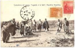 "ARGENTINE / ARGENTINA - Costumbres Del Campo "" Jugando A La Taba "" +++ Carmelo Ibarra, Buenos Aires, #92 +++ - Argentine"