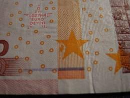10 € L027 U3589 Trichet - MISPRINT - VERY RAR!!!!!!!!!!!! - 10 Euro