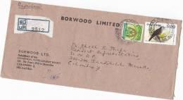 Registered BORWOOD INDUSTRIAL DEVELOPMENT BOARD To  UNDP UNITED NATIONS COVER SRI LANKA Un Birds Bird Stamps - Sri Lanka (Ceylon) (1948-...)