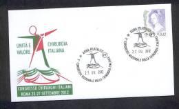 6.-  ITALY ITALIA 2012. SPECIAL POSTMARK. ITALIAN MEETING OF  SURGERY. CIRUGIA. CHIRURGIE. - Medizin