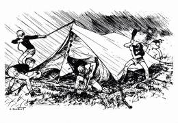 SCOUTISME ILLUSTRATION ILLUSTRATEUR PIERRE JOUBERT  SCOUTISMO BOY SCOUTS - Scoutisme