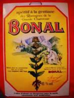 Publicité Alcool : BONAL -  Apéritif à La Gentiane Des Montagnes De La Grande Chartreuse - Années 1930 - Alcohols